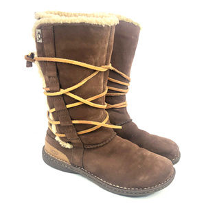 UGG Shoes - Ugg Boots Tall Catalina 1634 Suede Leather Lace Up